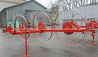 """Грабли-ворошилки  """"Солнышко"""" ZV-1T (3 колеса) для мотоблока, мототрактора"""