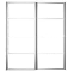 PAX Корпус двери балан. с направляющими, алюминий 602.224.23