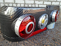 Задние стопы на ВАЗ 2115 в виде модулей 3D (цвет карбон)