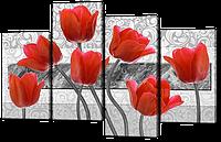 Модульная картина Тюльпаны 126* 82,5 см Код: w6779