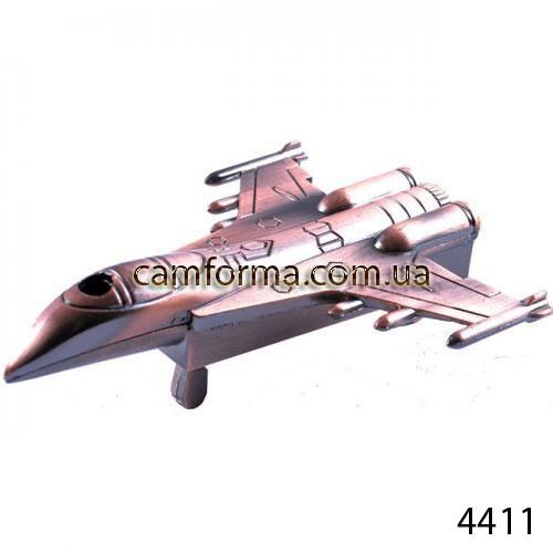 Зажигалка сувенирная настольная самолет арт(4411)
