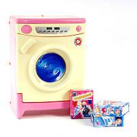 Игрушка детская стиральная машинка розовая со звуком Orion