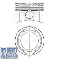 Поршень Fiat Doblo 70.80 +0.40 1.2  (Goetze 87-138406-40), фото 1