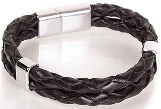 Изящный кожаный браслетDERIBILEKLIKSH10046-13, черный