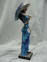 Статуэтка из гипса Дама с зонтиком маленькая