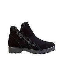 Женские зимние ботинки Bogun 2213 черн. замш., фото 1