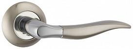 Ручка дверная на раздельном основании Punto - Pelican TL SN/CP 3 (матовый никель-хром)