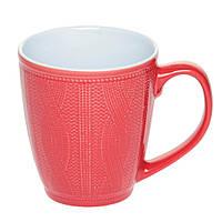Чашка керамическая красная вязаная, фото 1