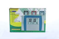 Недорогие настольные часы  KK 602, будильник, календарь, выбор формата времени, пластик