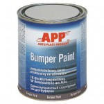 APP Автоэмаль для бампера BUMPER PAINT черная 1л