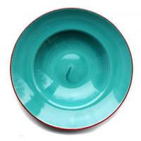 Тарелка для пасты 27 см Kaszub Hel Lubiana бирюзовая
