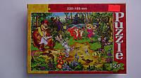 "Пазлы ""Приключения в лесу"",120 ел,Danko Toys,230х165 мм.Детские пазлы -""Приключения в лесу"", 120 елементов.Паз"