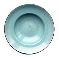 Тарелка для пасты 27 см Kaszub Hel Lubiana голубая