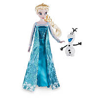 Кукла Дисней Эльза с Олофом Disney Store Frozen 12'' Inches Elsa Classic Doll With Olaf