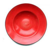 Тарелка для пасты 27 см Kaszub Hel Lubiana красная