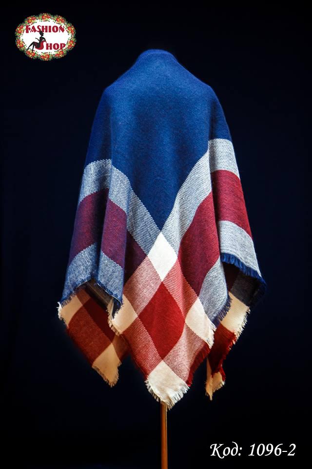Стильный шерстяной платок плед