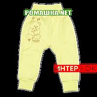 Штанишки на широкой резинке р. 56 демисезонные ткань ИНТЕРЛОК 100% хлопок ТМ Алекс 3297 Желтый