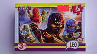"Пазлы ""Ниндзяго.Ninjago"",80 ел,Leo Lux,230х165 мм.Детские пазлы Leо-""Ниндзяго.Ninjago"", 80 елементов.Пазли ""Ни"
