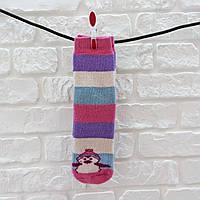 Носки женские высокие из шерсти розово-фиолетовый