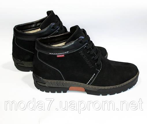 c9e89d902 Ботинки зимние мужские черные Norman нат. кожа: продажа, цена в ...