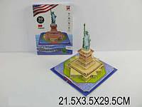 """3D паззл """"Статуя Свободы"""", 39 дет., в кор. 21х3х29 /72-2/"""