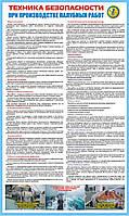 Стенд. Техника безопасности при производстве палубных работ. (Рус.) 1,0х0,6. Пластик