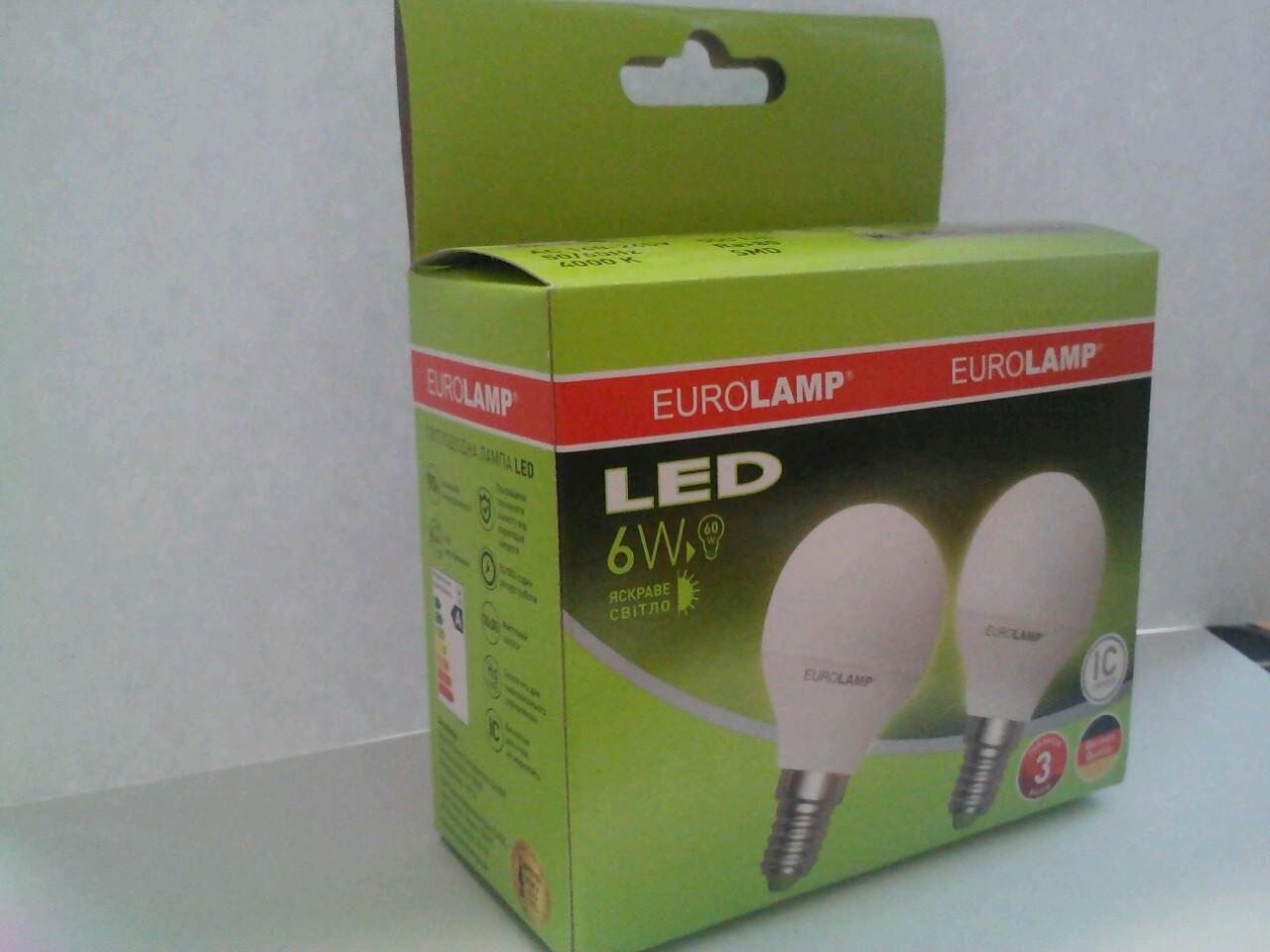 """Промо-набір EUROLAMP LED Лампа ЕКО серія """"D"""" G45 6W E14 4000K акція 1+1"""