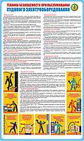 Стенд. Техника безопасности при обслуживании судового электрооборудования. (Рус.) 1,0х0,6. Пластик
