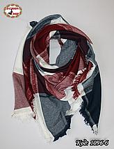Стильный шерстяной платок плед, фото 3