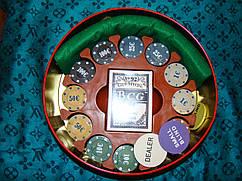 Покерный набор 240 фишек в металлической коробке