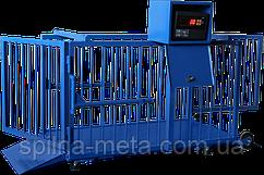 Весы 1250х600х700 мм. для взвешивания свиней и мелких рогатых животных весом до 300 кг.
