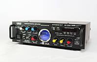 Двухканальный акустический усилитель звука UKC AV-339A караоке на 2 микрофона, 87-108 мГц, пульт ДУ