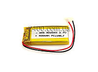 Аккумулятор (400 мАч) для блютуз гарнитуры, наушников,  охранных систем, игрушек 400mAh 502040 3,7 в