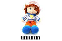 Кукла-мальчик мягкая, муз. 35 см. /120/