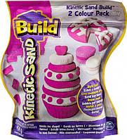 Песок для детского творчества Kinetic Sand Build белый 227 г, розовый 227 г