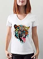 "Женская футболка ""Тигр"""