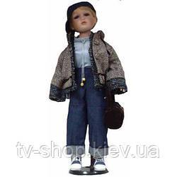 Фарфоровая кукла мальчик Крис ,63 см
