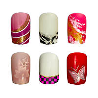 Накладные ногти Knail №A002-7 цветные