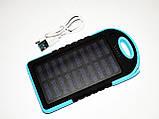 Power Bank UKC 10800mah 2 в 1 Solar+Led  Портативное зарядное устройство, фото 4