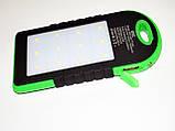 Power Bank UKC 10800mah 2 в 1 Solar+Led  Портативное зарядное устройство, фото 5