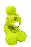 Зимняя шапка+шарф с бубоном  размер M  VipDoggy разные цвета