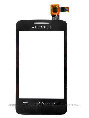 Тачскрин (сенсор) Alcatel 3040 One Touch Tribe, black (чёрный), фото 2