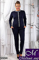 Осенний женский брючный костюм (50, 52, 54, 56) арт. 9994