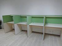 Столы для колл центра с алюминиевыми накладками