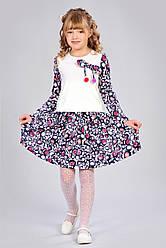 Детское платье с помпонами