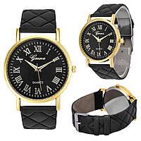 Наручные часы Geneva Roman унисекс/черные