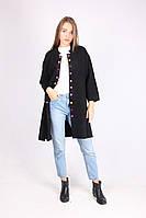Стильное пальто с разноцветными пуговицами