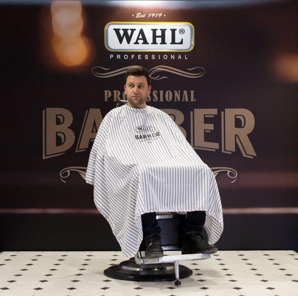 Пеньюар для стрижки Wahl Barber полосатый 4505-7002