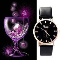 Наручные часы Geneva black унисекс/черные