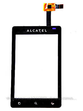 Тачскрин (сенсор) Alcatel OT-918D, black (чёрный), фото 2